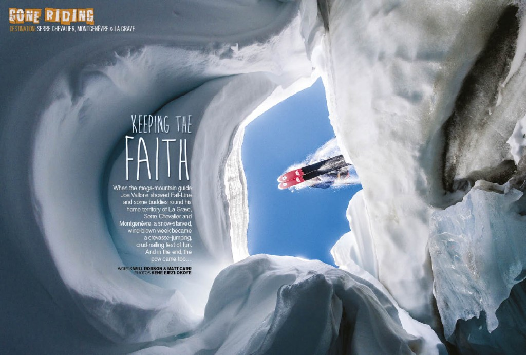 Crevasse-jumping, crud-nailing fun in Serre Chevalier, Montgenevre and La Grave
