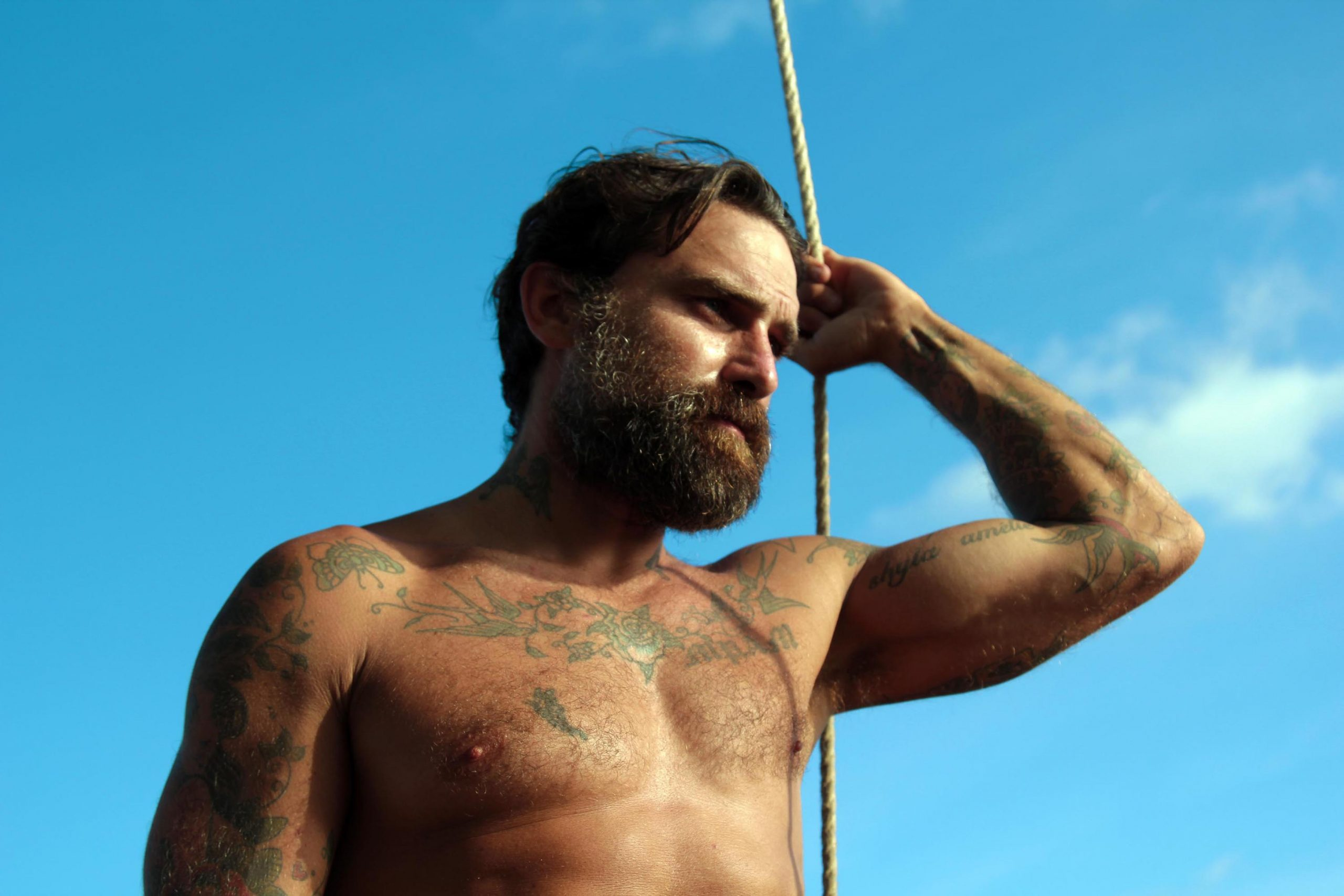 Ant Middleton while filming Mutiny